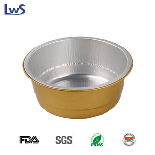 LWS-RC128 Round coated aluminum foil container