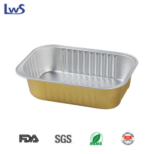 LWS-REC161B Rectangular coated aluminum foil container