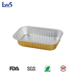 LWS-REC161A Rectangular coated aluminum foil container