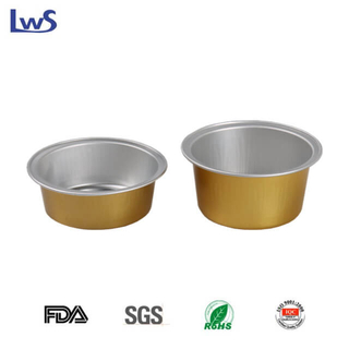 Small coated aluminum foil cups LWS-RC52