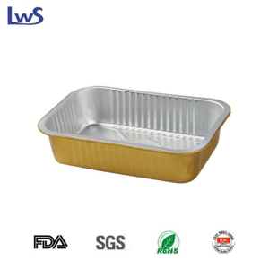 LWS-REC184 Coated smoothwall aluminum foil container